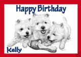 Personalised Westie Puppies Greetings Card